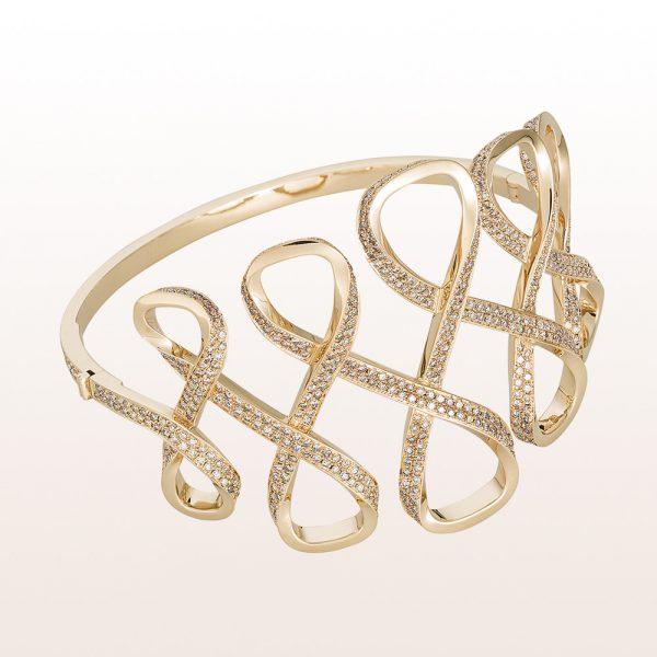 Armband mit braunen Brillanten 7,08 ct in 18kt Weißgold