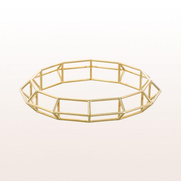 """Armreif """"Aurum Structure"""" in 18kt Gelbgold von Designer Klemens Schillinger"""