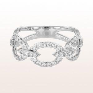 Ring mit Brillanten 0,52ct in 18kt Weißgold