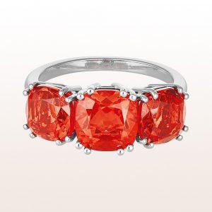 Ring mit Feueropale 4,00ct und 18kt Weißgold