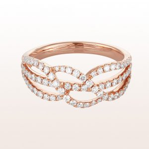 Ring mit Brillanten 0,52ct in 18kt Roségold