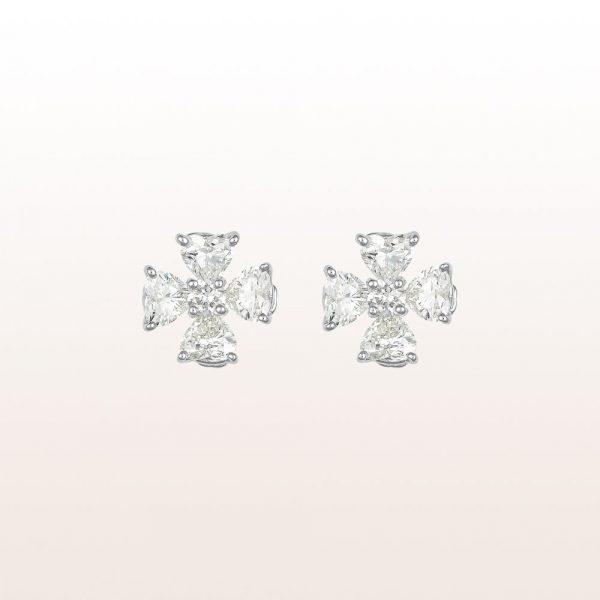 Ohrringe mit Diamanten 3,72ct in 18kt Weißgold