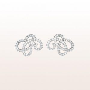 Ohrringe mit Brillanten 1,17ct in 18kt Weißgold