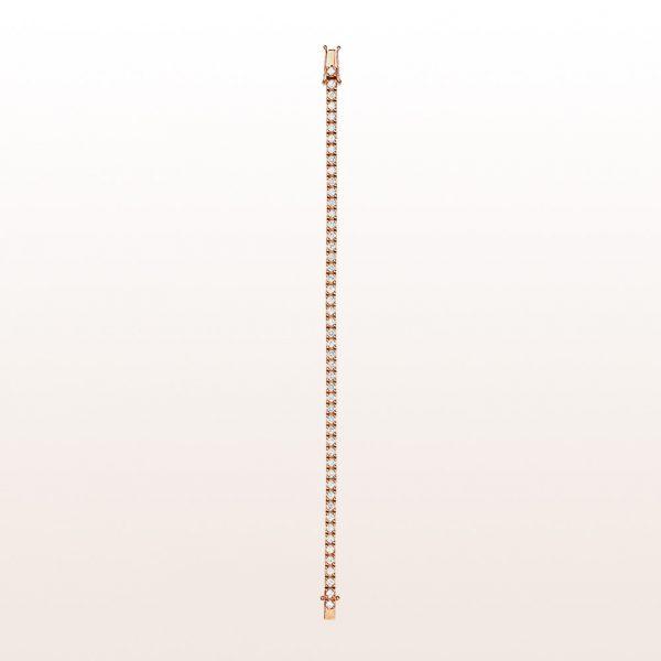 Tennisarmband mit Brillanten 3,66ct in 18kt Roségold