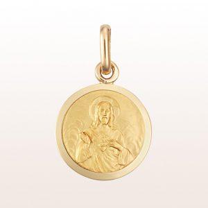 Anänger mit Christus aus 18kt Gelbgold