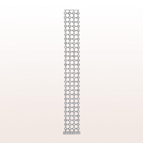 Armband mit Brillanten 14,24ct und Platin Stabschließe