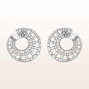 Ohrringe mit Diamanten 4,79ct in 18kt Weißgold