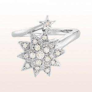 """Ring """"Marie Valerie"""" mit Brillanten 0,38ct in 18kt Weißgold"""