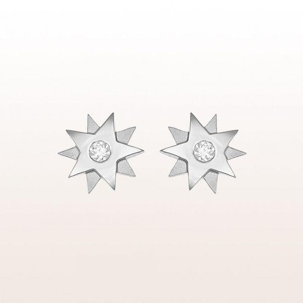 """Ohrstecker """"Gisela"""" mit 2 Brillanten 0,20ct in 18kt Weißgold"""