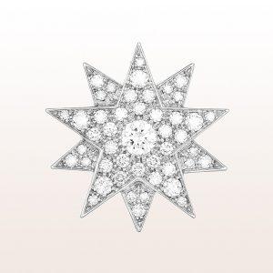 """Sisi Stern """"Modell 1"""" mit Brillanten 2,60ct in 18kt Weißgold. Dieser Sisi Stern kann als Brosche, Anhänger und Haarnadel getragen werden."""