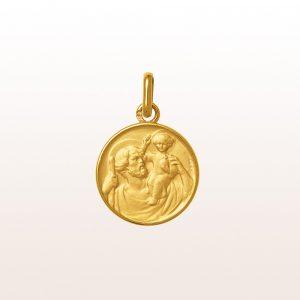 """Anhänger """"Hl. Christopherus"""" in 18kt Gelbgold"""