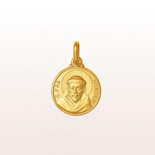 """Anhänger """"Hl. Franz"""" in 18kt Gelbgold"""