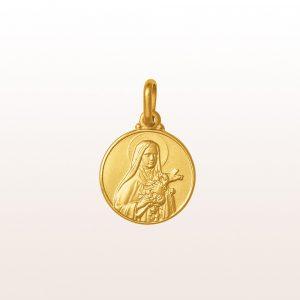 """Anhänger """"Hl. Therese von Lisieux"""" in 18kt Gelbgold"""