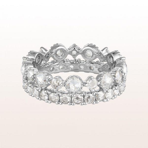 Eternityring mit Diamanten 1,78ct in 18kt Weißgold